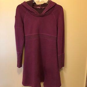 PrAna long sleeve hooded sweatshirt dress - SM